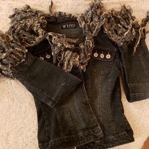 Retro/Frayed jean jacket
